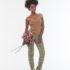 Blusa Beje + Calça Bicolor bolso cinza – Afroflowerism