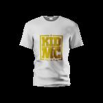 tshert Branca com letras douradas-Tamanho L,XL