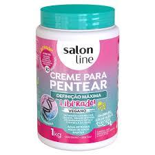 Creme De Pentear Salon Line Definicao Maxima Vegano 1kg