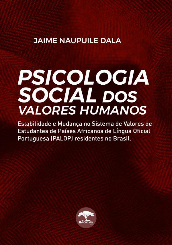 Livro Psicologia social dos valores humanos Jaime Naupuile Dala