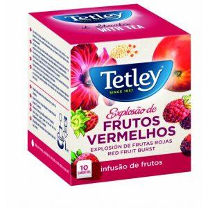 Caixa De Chá Tetley Explosão De Frutos Vermelhos