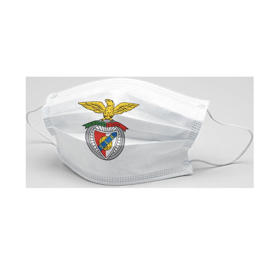 Máscara Comunitária Branca Com Logo SL Benfica