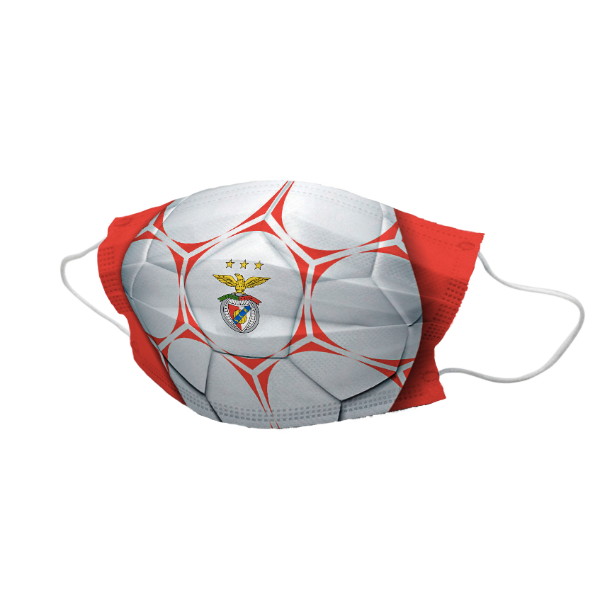 Máscara Comunitária Vermelha Com Bola SL Benfica