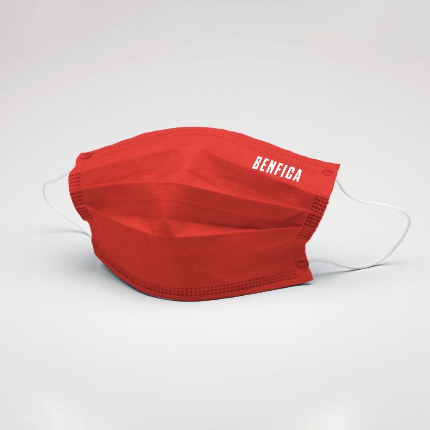 Máscara Reutilizável Vermelha Casual Benfica - Nível 3