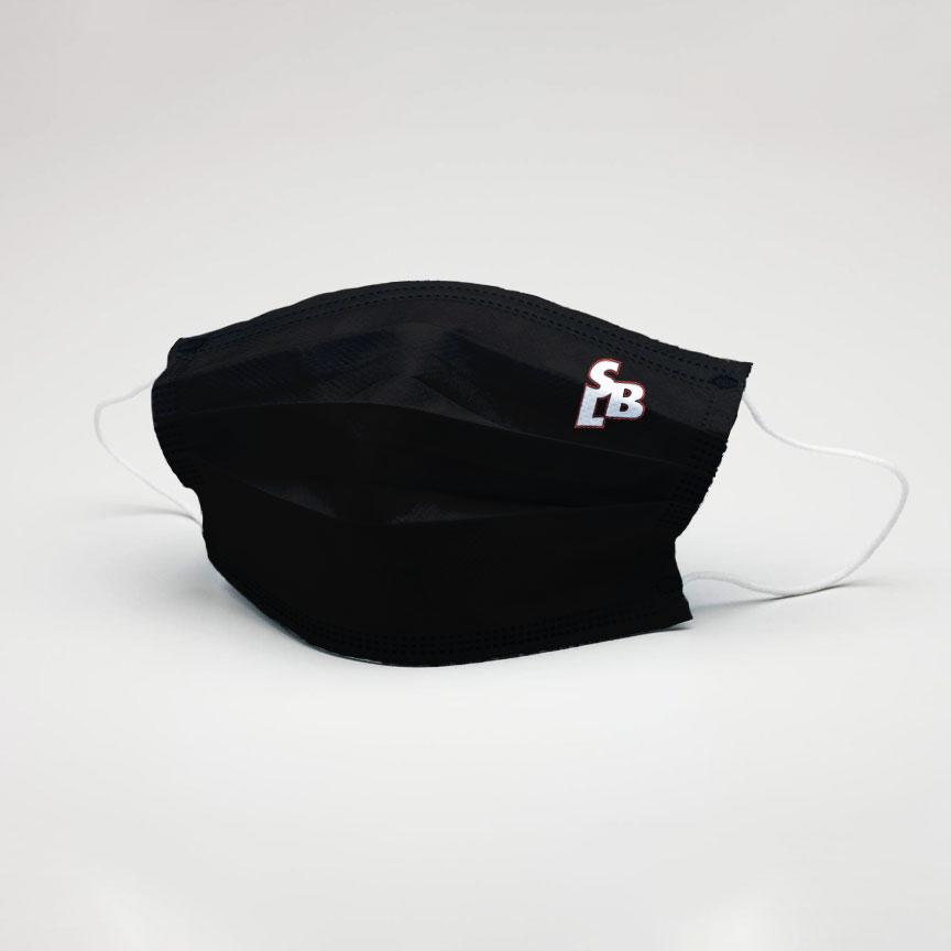 Máscara Reutilizável Preta Casual SLB - Nível 3