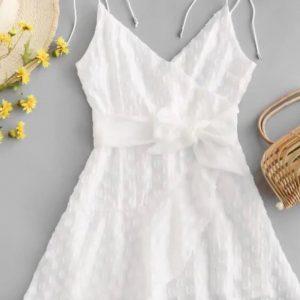 Vestido  Zaful Branco