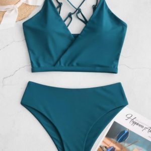 Fato De Banho  Zaful Bikini Cintura Alta