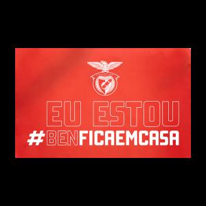 Bandeira #BENFICAEMCASA 150 x 240 Cm