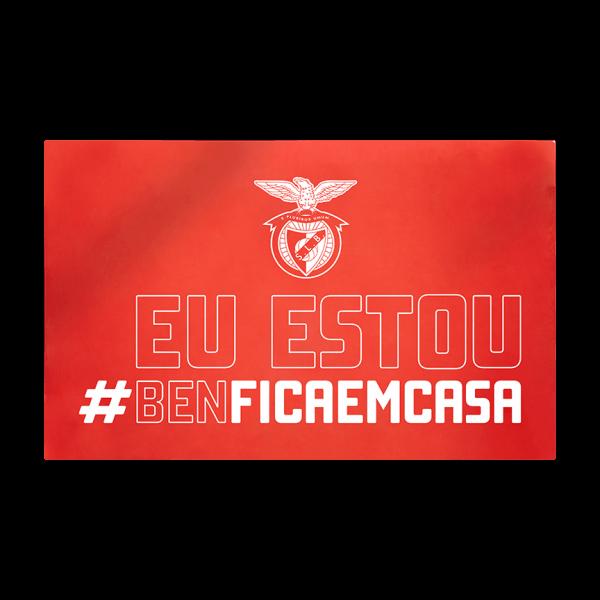 Bandeira #BENFICAEMCASA 90 x 150 Cm