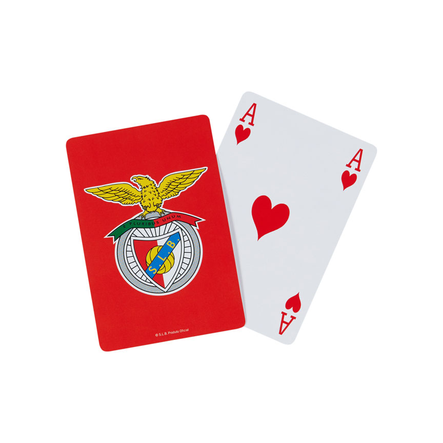 Baralho De Jogos de Cartas Com o Logo do Benfica