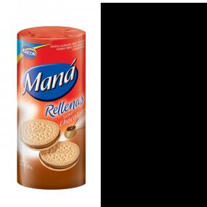 Bolacha Com Recheio a Chocolate Mana 165g