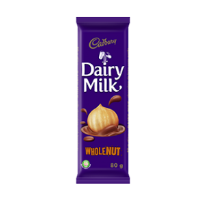 Chocolate Dairy Milk Whole Nut Cadbury 80g