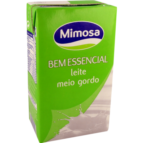 Leite Meio Gordo Mimosa 1L