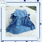 Vestido Jamile Poá- azul