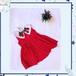 Vestido Ju- Vermelho e cereja
