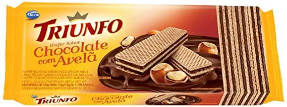 Wafer Chocolate com Avelã Triunfo 115g