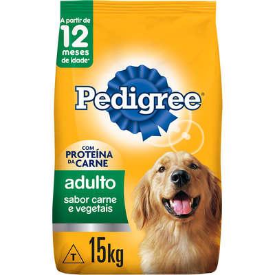 Ração Pedigree Adulto Sabor de  Carne e Vegetal. 15kg