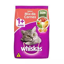 Rção Whiskas Para Gato  Sabor Mix de Carnes 10kg