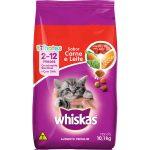 Whiskas gato filhote sabor carne e leite 10kg