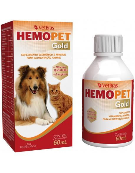 Suplemento Vitamínico Hemopet gold Para Cães e Gatos 60ml