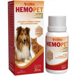 Suplemento Vitamínico Hemopet gold Para Cães e Gatos. 30ml