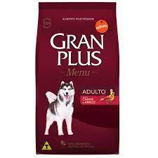 Ração Gran Plus Adulto.Sabor  carne e arroz 3kg