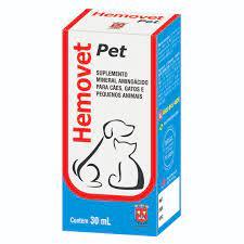 Suplemento Vitamínico Hemovet Pet 30ml