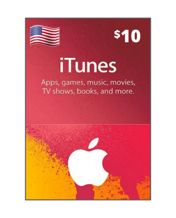 Apple Store & Itunes 10 usd USA