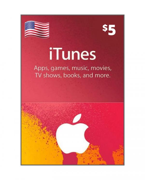Apple Store & Itunes 5 usd USA