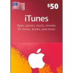 Cartão Apple Store e Itunes 50$