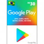 Cartão Google Play 30R$