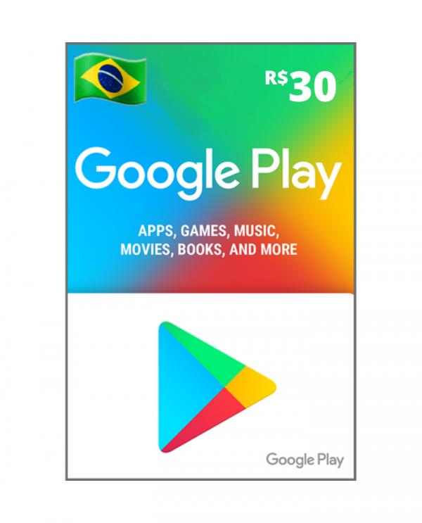Google play 30 reais BR