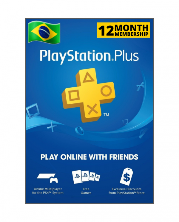 Playstation Plus 12 meses BR