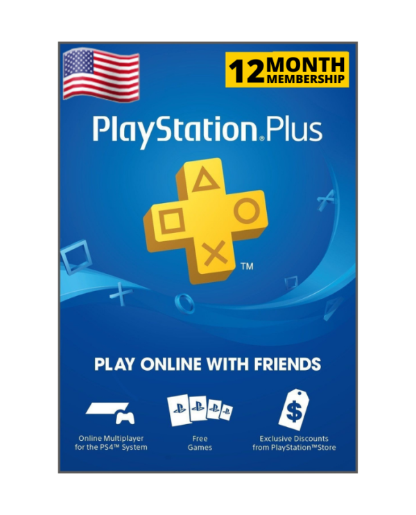 Playstation Plus 12 meses usd USA