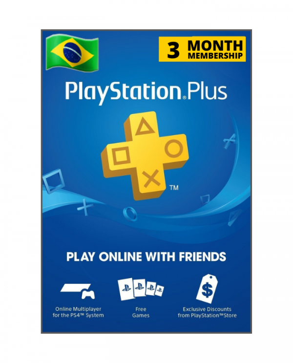 Playstation Plus 3 meses BR