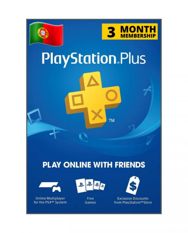 Playstation Plus 3 meses PT
