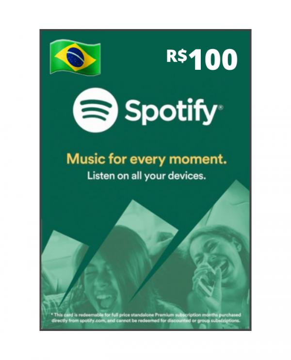 Spotify 100 reais BR