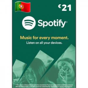 Spotify 21 euros PT
