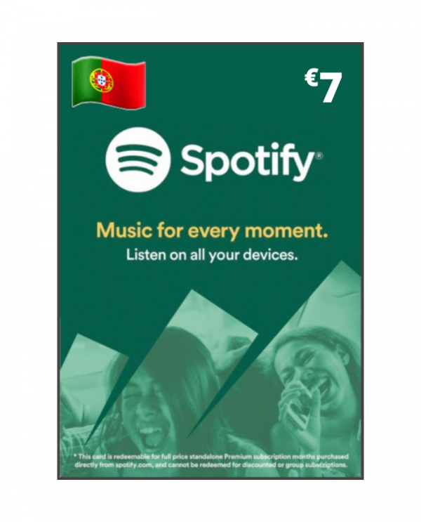 Spotify 7 euros PT