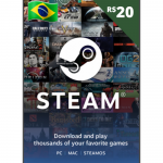 Cartão Steam 20R$