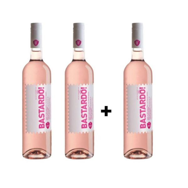Vinho  Bastardô! Rosé  em Garrafa 750ml [PROMOÇÃO Pague 2, Leva 3]