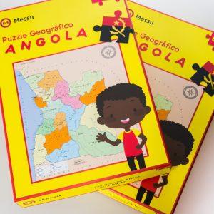 Mapa de Angola em Puzzle (quebra-cabeça)