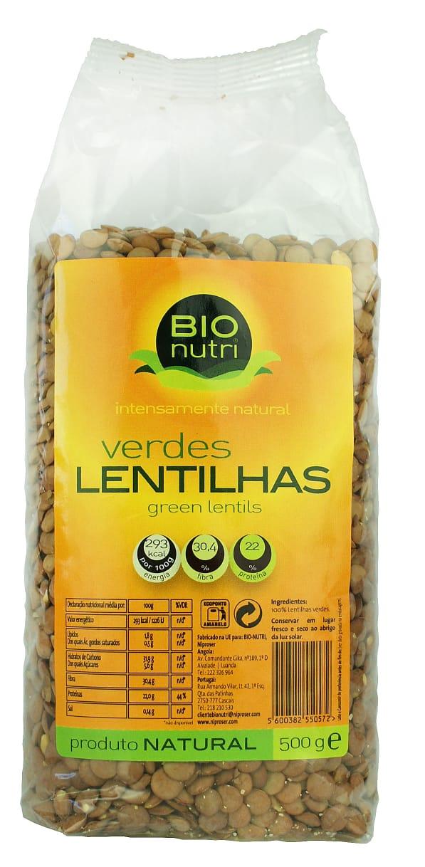 BIONUTRI LENTILHAS VERD. 12X500G